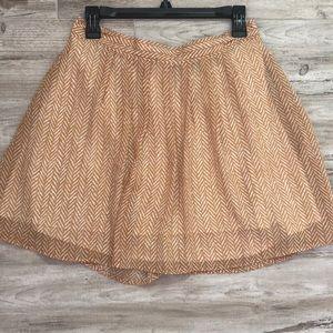 Old navy herringbone yellow mini skirt